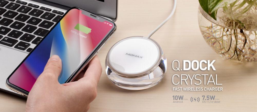Momax Q.Dock Crystal 無線快速充電座