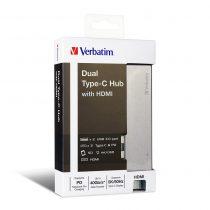 Verbatim Dual Type C Hub with HDMI 65600