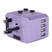 Verbatim 5-Port 5.6A 旅行充電器(紫色)