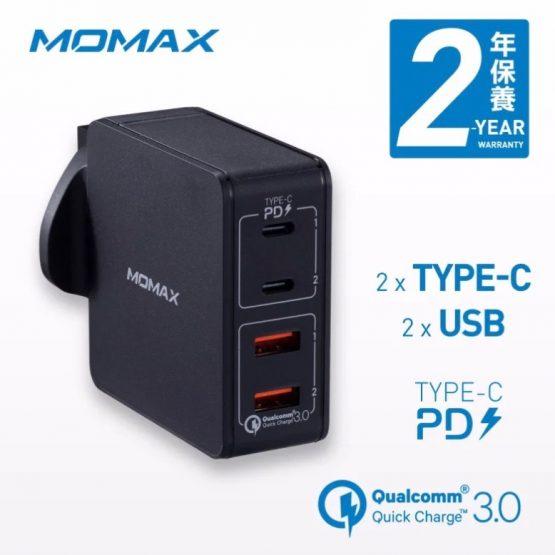Momax OnePlug 66W 4-port Type-C PD 快速充電器