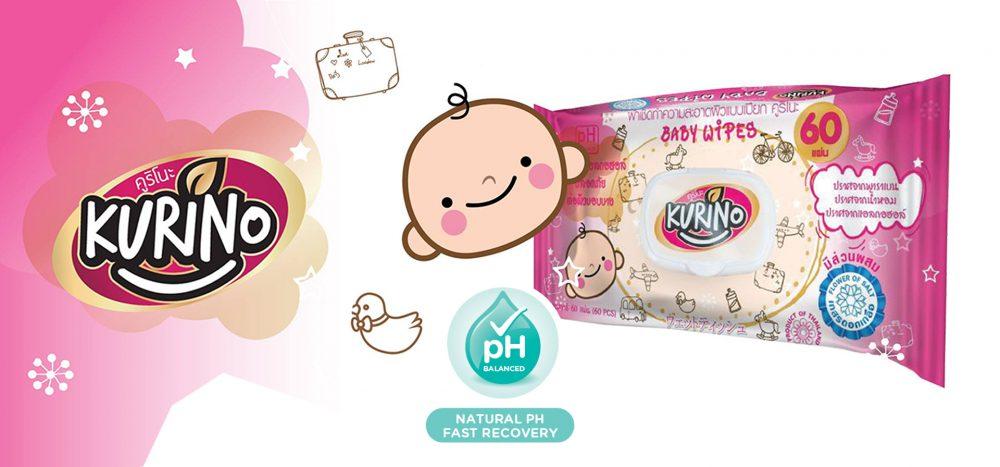 泰國 Kurino 嬰兒濕紙巾 60片裝