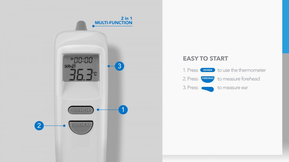 Momax 1-Health 2合1 紅外線溫度計