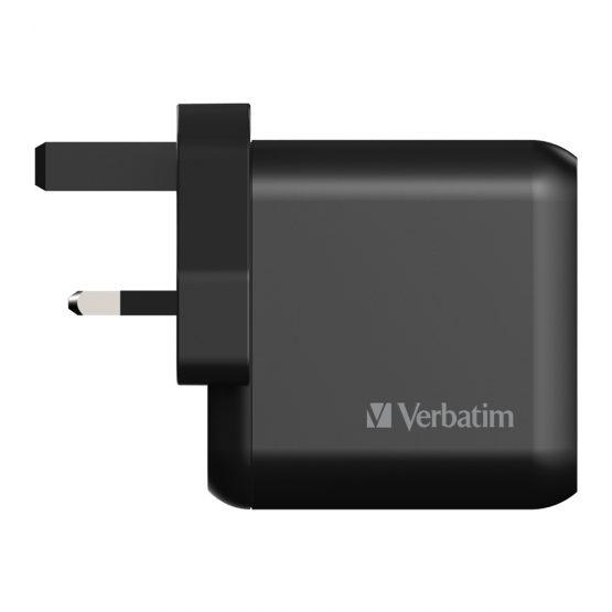 Verbatim 3 Port 65W PD 3.0 & QC 3.0 GaN USB充電器66520-0