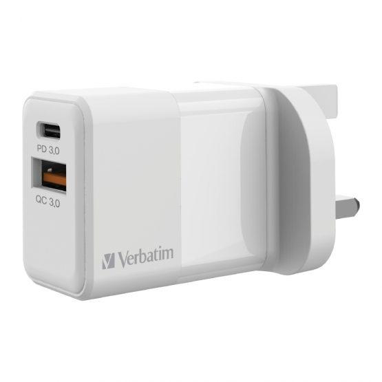 Verbatim 2 Port 20W USB充電器 66633